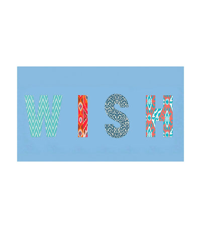 wander by virginia wolf wish word wrap blue