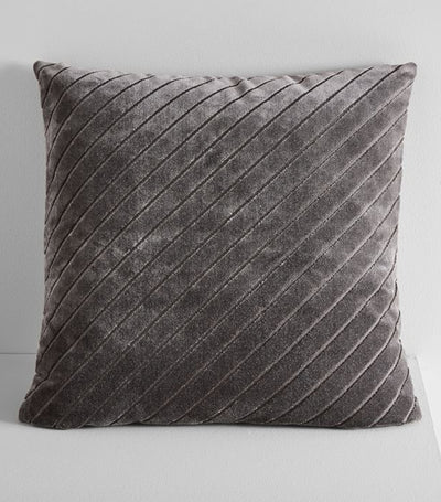 west elm slate diagonal stripe velvet pillow cover 18x18