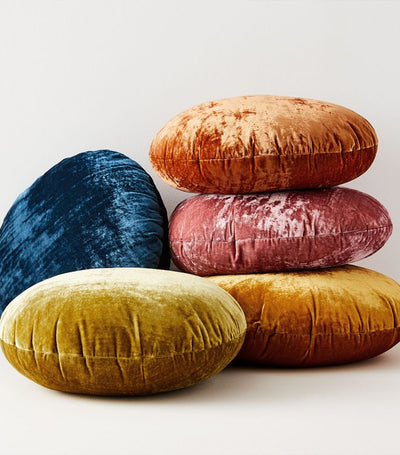 west elm Round Lush Velvet Cushion