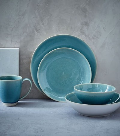 west elm turquoise alta crackle gaze dinnerware collection