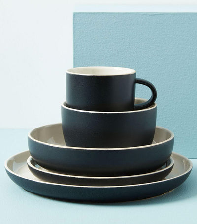 west elm black kaloh dinnerware collection