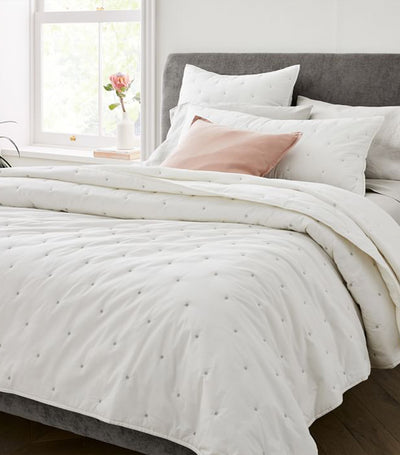 west elm stone white organic washed cotton quilt collection