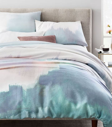 tencel™ abstract landscape duvet cover collection