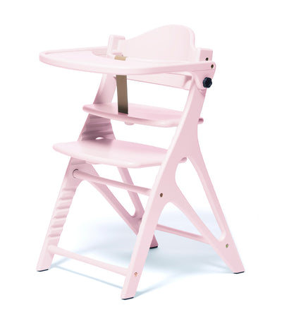 yamatoya milky pink affel wooden high chair
