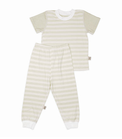 yoji wear green stripes pajama set