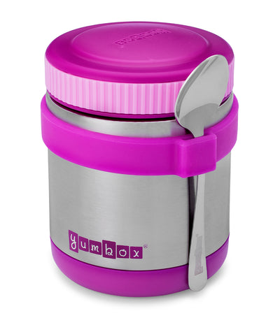 yumbox bijoux purple zuppa food jar with spoon