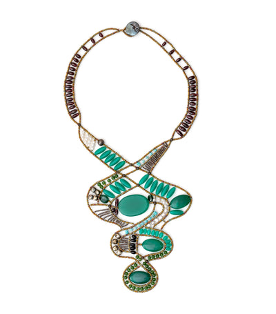 Large Green Ovale Necklace