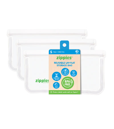 zippies clear lay-flat storage bags - small (3 bags)