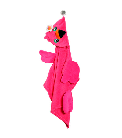 zoocchini hooded towel - fanny the flamingo