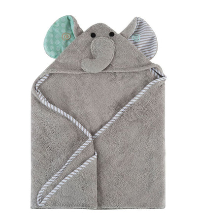 zoocchini baby hooded towel - elle the elephant