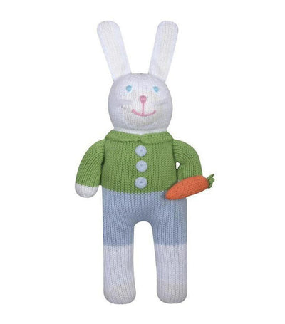 zubels multicolor collin the bunny-knit doll