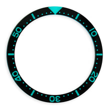 Load image into Gallery viewer, G0644 SKX007 Flat Glass Bezel Insert - SKX Style Black BGW9 Lume