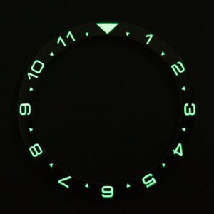 CI0010 SKX007 Luminous Dual Time Ceramic Bezel Insert