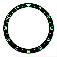 Load image into Gallery viewer, CI0010 SKX007 Luminous Dual Time Ceramic Bezel Insert