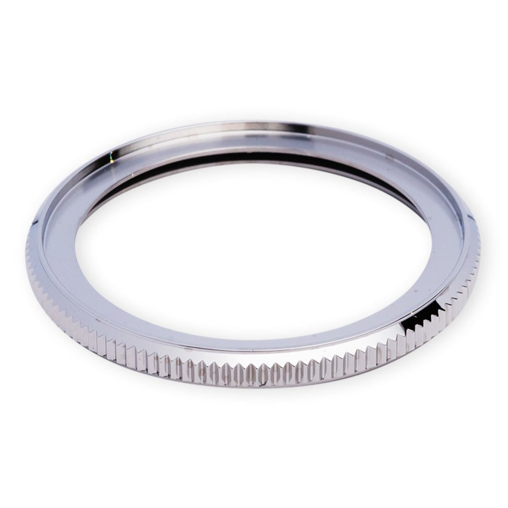R0131 SKX007 Coin Edge Bezel - Polished Silver