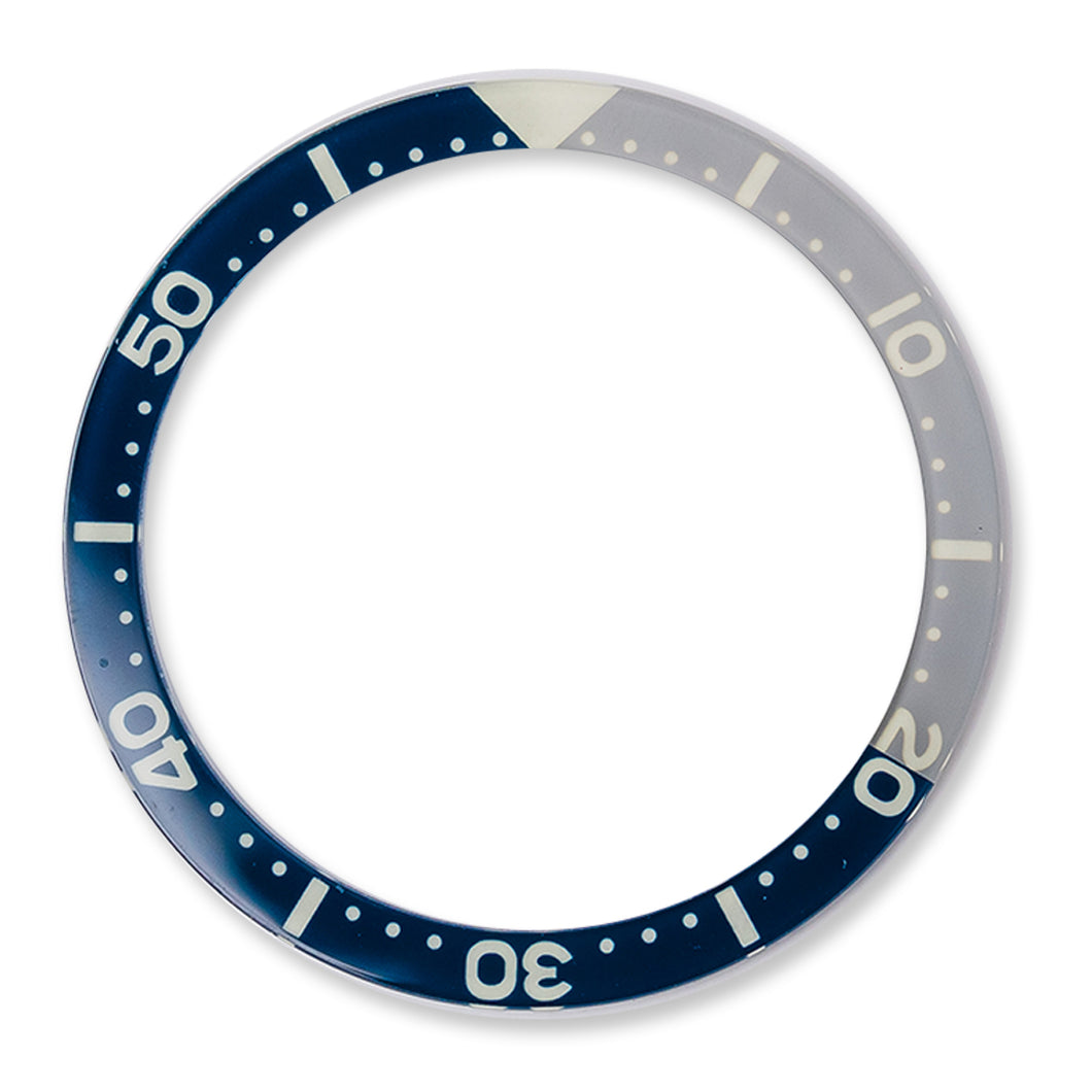 RC0624 SKX007 Flat Glass Bezel Insert - Dark Blue/Gray