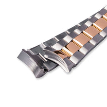 Load image into Gallery viewer, SB0627 SKX007 Oyster Bracelet - Two-Tone Silver/Rose Gold Finish