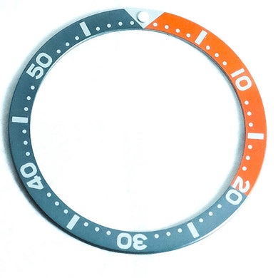 SKX007 Orange Gray Aluminum Bezel Insert - Watch&Style