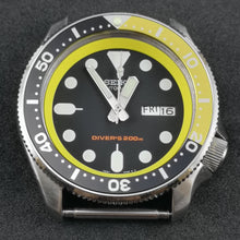 Load image into Gallery viewer, SKX007 Black and Yellow Aluminum Bezel Insert - Watch&Style