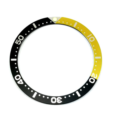 SKX007 Black and Yellow Aluminum Bezel Insert - Watch&Style
