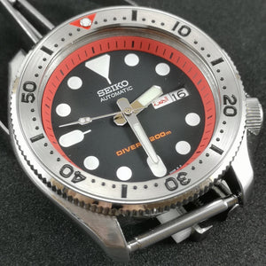 SKX Red - SKX007 Stainless Bezel Insert - Watch&Style