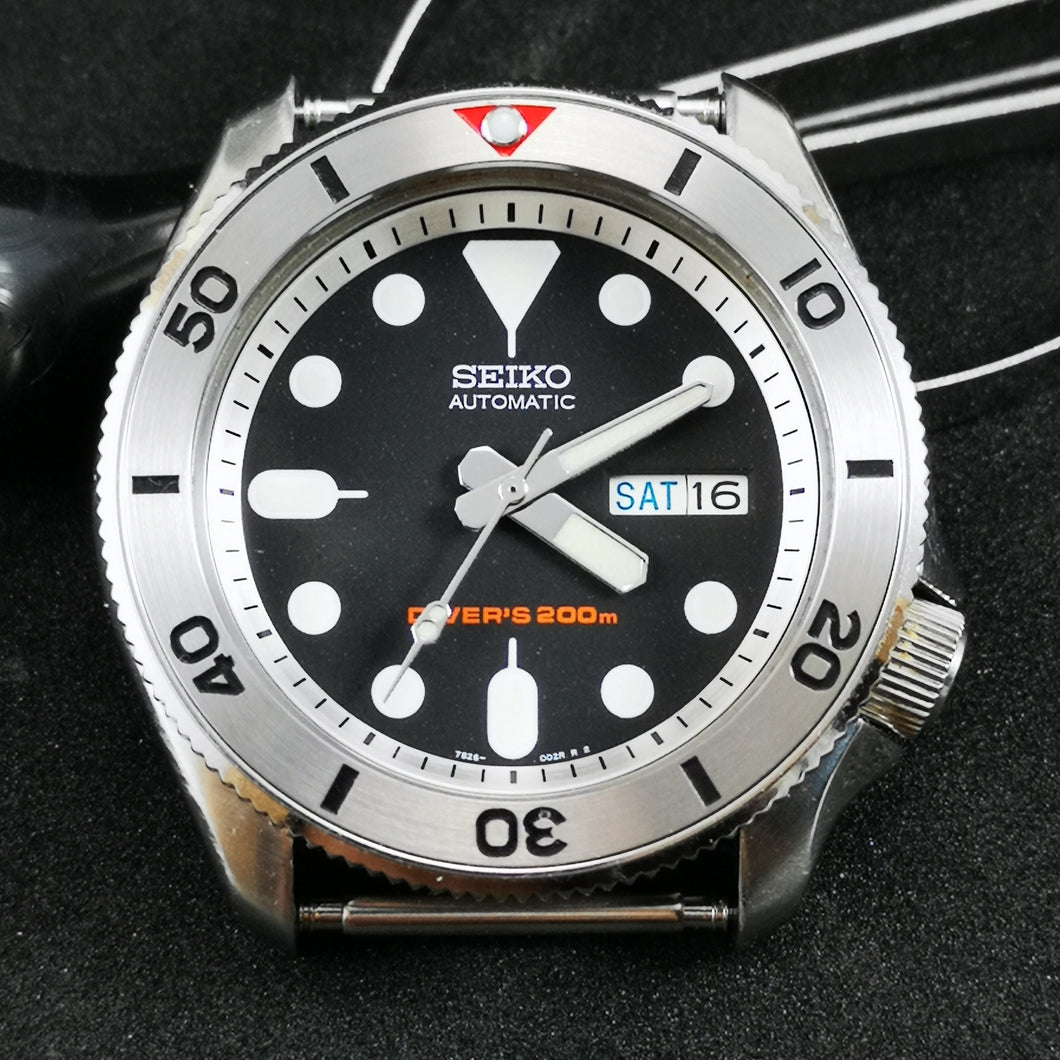 Red Seamaster Style - SKX007 Stainless Bezel Insert - Watch&Style