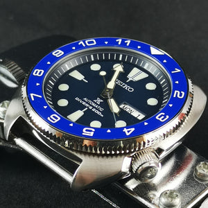 CI0052 SRP Turtle Re-issue Ceramic Bezel Insert - Blue Dual Time