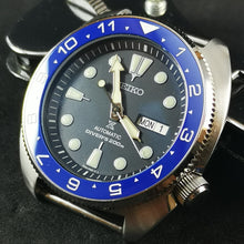 Load image into Gallery viewer, CI0052 SRP Turtle Re-issue Ceramic Bezel Insert - Blue Dual Time