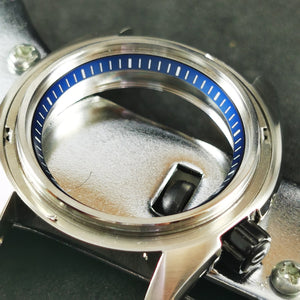C0180 SKX007 Chapter Ring - Blue with Marker