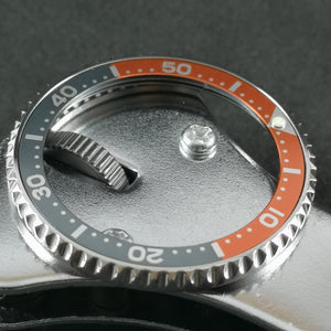SKX007 Gray Orange II Aluminum Bezel Insert - Watch&Style