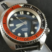 Load image into Gallery viewer, SRP Turtle Black Orange Aluminum Bezel Insert - Watch&Style