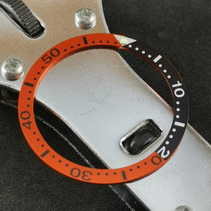 SRP Turtle Black Orange Aluminum Bezel Insert - Watch&Style