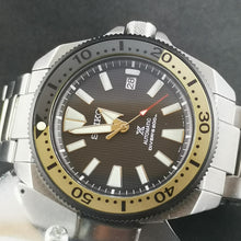Load image into Gallery viewer, SRP Turtle Black Yellow Aluminum Bezel Insert - Watch&Style