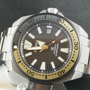 SRP Turtle Black Yellow Aluminum Bezel Insert - Watch&Style