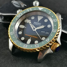 Load image into Gallery viewer, CI0018 SKX007 Flat Ceramic Bezel Insert - Green Dual Time Style