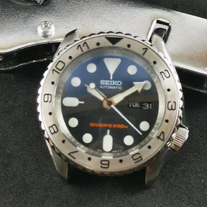 SKX007 Stainless Bezel Insert - Dual Time Black