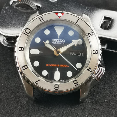 SI0096 SKX007 Stainless Bezel Insert - Dual Time II Red