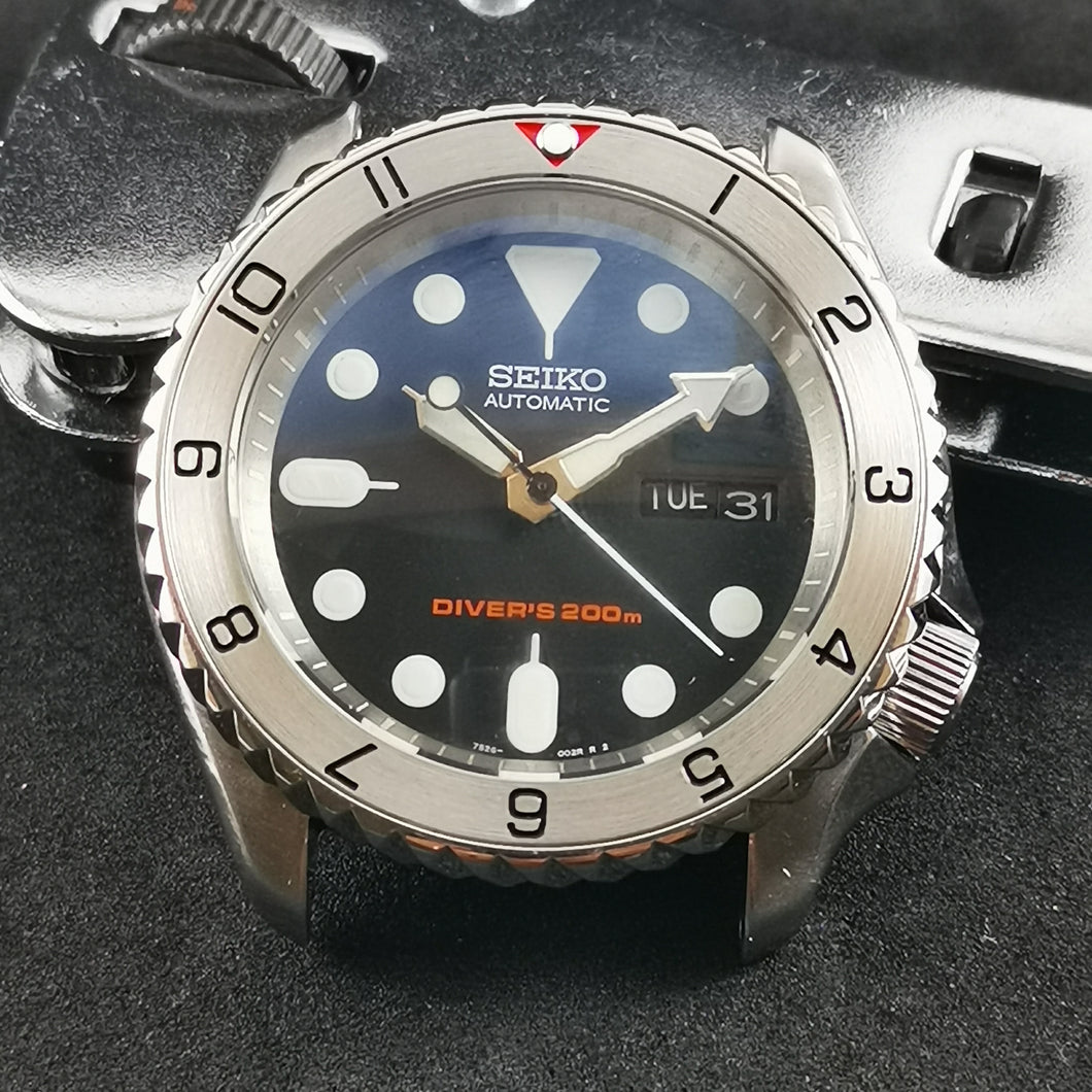 SKX007 Stainless Bezel Insert - Dual Time II Red