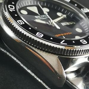 SKX013 Coin Edge Rotating Bezel - Polished Silver