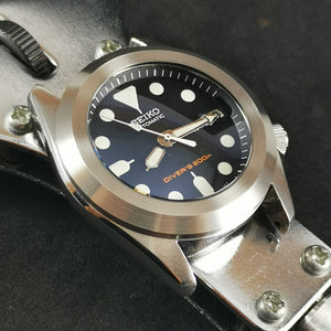 R0165 SKX013 Pilot Style Rotating Bezel - Brushed Finish