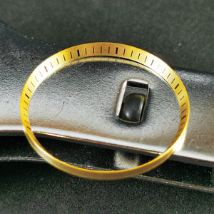 C0182 SKX007 Chapter Ring - Brushed Gold with Marker