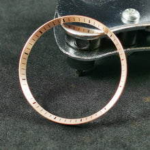 Load image into Gallery viewer, C0183 SKX007 Chapter Ring - Brushed Rose Gold with Marker