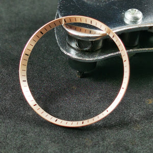 C0183 SKX007 Chapter Ring - Brushed Rose Gold with Marker