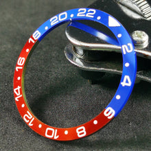 Load image into Gallery viewer, CI0007 SKX007 Pepsi GMT Ceramic Bezel Insert
