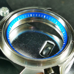 C0186 SKX007 Chapter Ring - Light Blue with White Marker