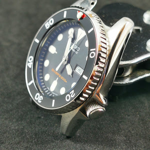 SKX013 M1 Rotating Bezel -  Polished Silver