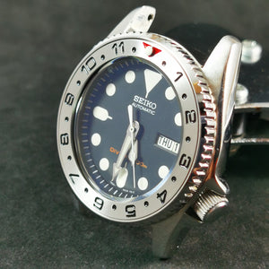 SI0117 SKX013 Stainless Bezel Insert - Dual Time Red