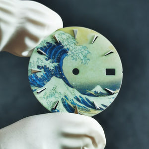 D0372 Dial - The Great Wave of Kanagawa - Full Lumed