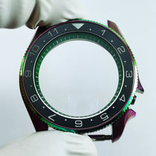 Load image into Gallery viewer, CI0493 SKX007 Luminous Dual Time Ceramic Bezel Insert - BGW9