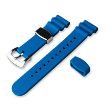 Load image into Gallery viewer, RS0564 22mm Flouro Rubber Strap - Blue